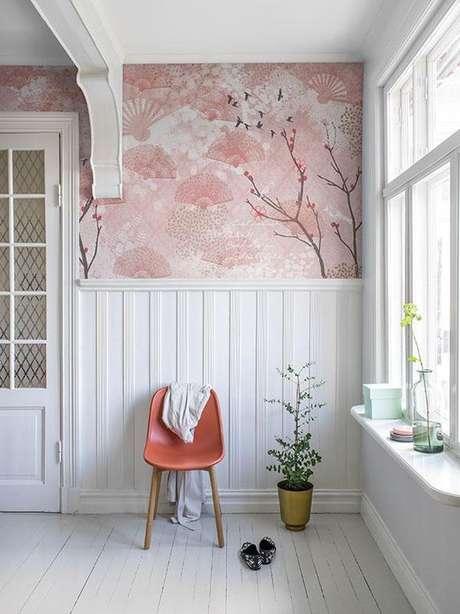 49. Papel de parede rosa de cerejeira – Foto Pinterest