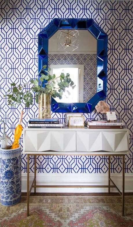 5. Moldura colorida azul – Foto Pinterest