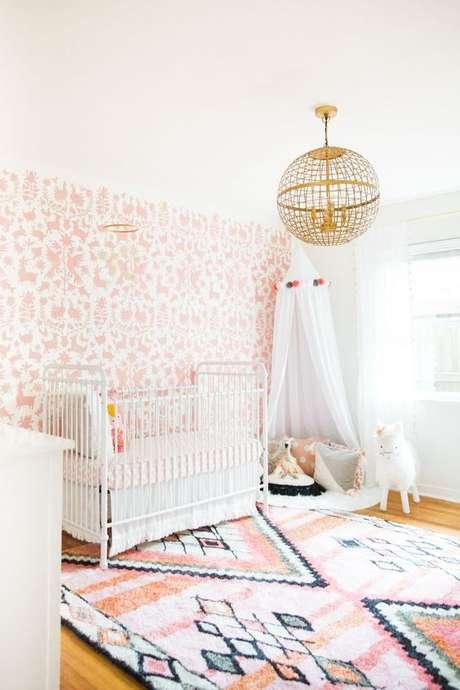 56. Papel de parede rosa e branco – Foto June USA