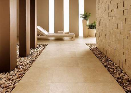 2. Os pisos cerâmicos também podem ser aproveitados para ambientes externos.