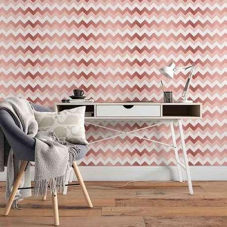 22. Papel de parede rosa geométrico – Foto de Facile