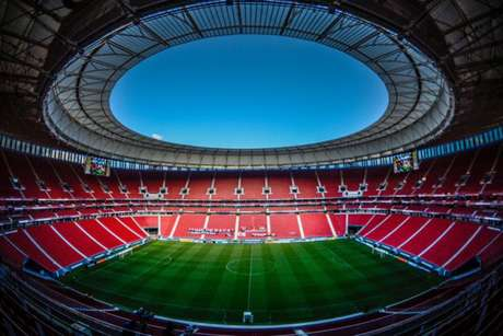 Estádio Mané Garrincha vai receber Santos e San Lorenzo (Foto: Alexandre Vidal/CRF)