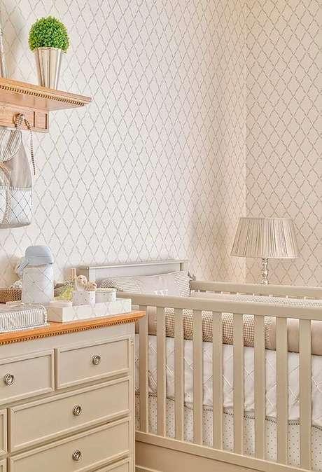 21. Revestimento bege para quarto de bebê – Foto Arkpad