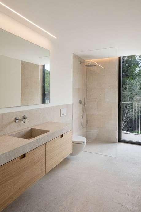 4. Banheiro com revestimento bege – Foto Industry of Mine