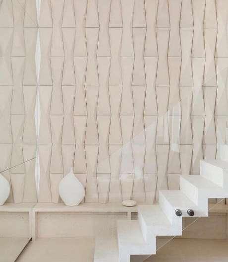 65. Revestimento 3D para sala de estar moderna – Foto Pinterest