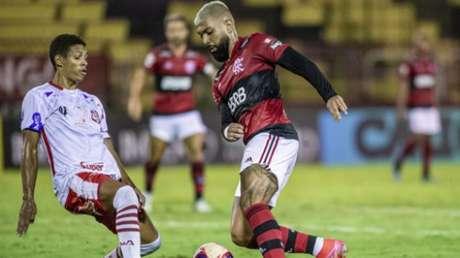 Gabigol fez o último do jogo (Foto: Marcelo Cortes / Flamengo)