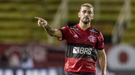 Arrascaeta marcou um belo gol (Foto: Marcelo Cortes / Flamengo)