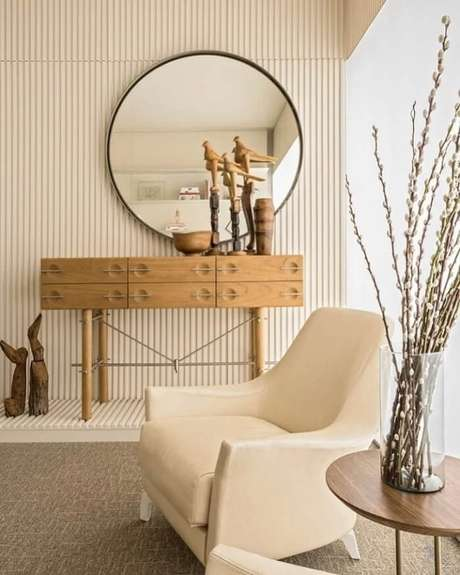1. O estilo japandi prioriza o uso de matérias-primas naturais como madeira, bambu e vime. Fonte: Pedro Felix Arquitetura
