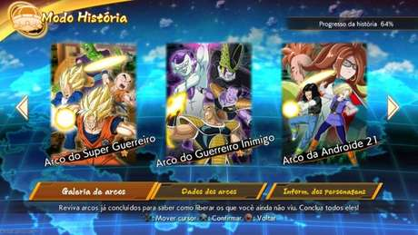 Modo história Dragon Ball FighterZ