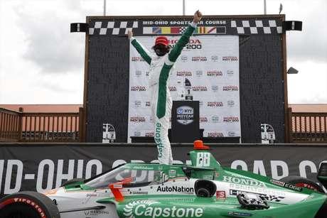 Colton Herta levou a melhor na segunda corrida em Mid-Ohio. Newgarden foi 8º, com Dixon em 10º