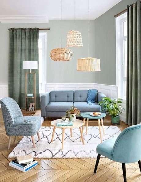 6. Deixe os móveis pé palito invadirem sua decoração. Fonte: Pinterest