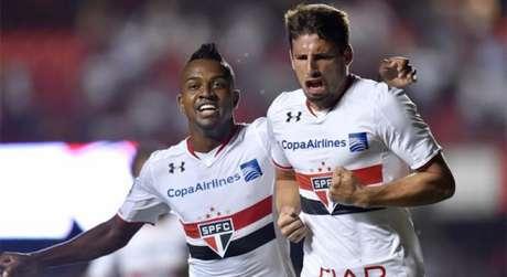 Calleri marcou quatro gols na goleada por 6 a 0 há cinco anos atrás (Foto: Divulgação)
