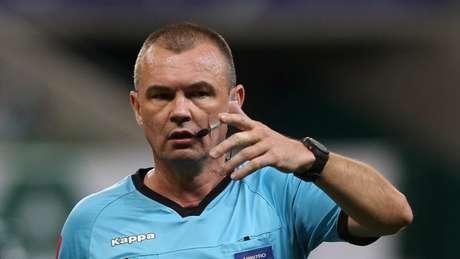 Leandro Vuaden foi o árbitro escolhido para apitar a Supercopa de 2021 (Foto: Cesar Greco/Palmeiras)