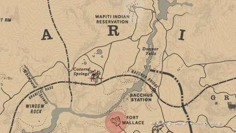 Localização do Lobo Lendário no mapa