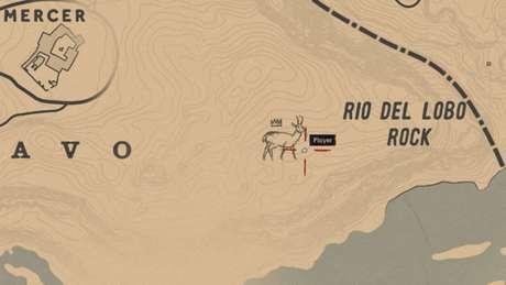 Localização da Antilocapra Lendária no mapa