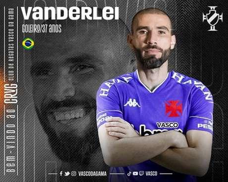 Experiente goleiro foi anunciado neste domingo (Divulgação / Vasco)