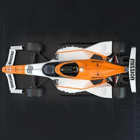O carro de Montoya na Indy 500 2021