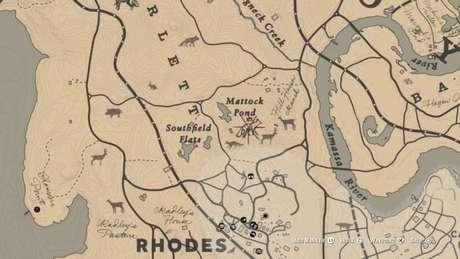 Localização da Raposa Lendária no mapa