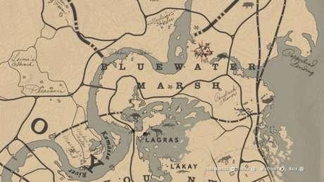 Localização do Javali Lendário no mapa