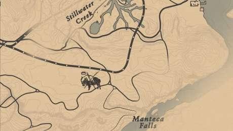Localização do Bisão Lendário Tatanka no mapa