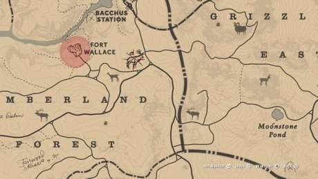 Localização do Uapiti Lendário no mapa