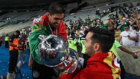 Abel Ferreira conquistou o primeiro título da carreira em menos de três meses de Brasil (Foto: Cesar Greco/Ag. Palmeiras)