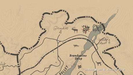 Localização do Alce Lendário no mapa