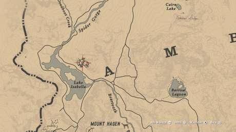 Localização do Bisão Branco Lendário no mapa