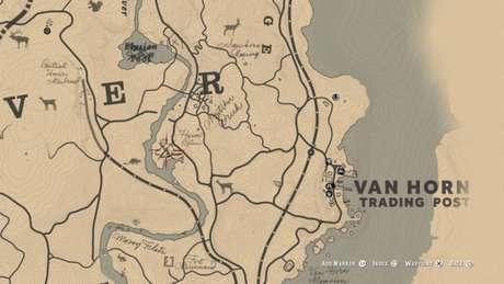 Localização do Castor Lendário no mapa