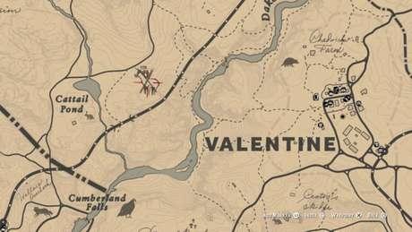 Localização do Carneiro-selvagem Lendário no mapa