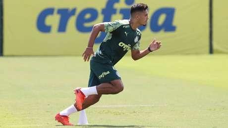 Menino está recuperado de lesão no tornozelo e iniciou processo de transição física (Foto: Cesar Greco/Palmeiras)