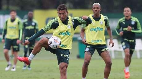 Atletas do Palmeiras finalizaram a preparação para encarar o Defensa y Justicia (Foto: Cesar Greco/Palmeiras)