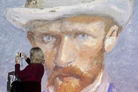 Retrato de Van Gogh em uma exposição em Zurique, na Suíça