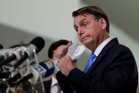 Presidente Jair Bolsonaro durante pronunciamento à imprensa em Brasília 31/03/2021 REUTERS/Ueslei Marcelino