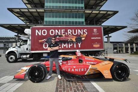 O carro #98 de Marco Andretti para a Indy 500