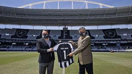 Jorge Braga, CEO, e Durcesio Mello, presidente do Botafogo (Foto: Vítor Silva/Botafogo)