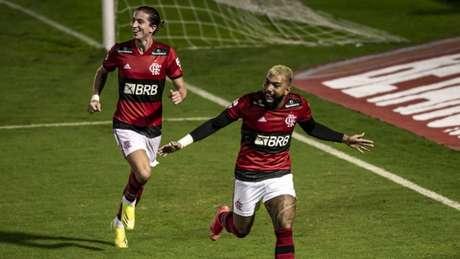 Gabigol se tornou o maior artilheiro do Fla no século (Foto: Marcelo Cortes/Flamengo)