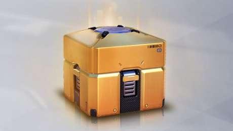 Loot box com itens lendários de Overwatch