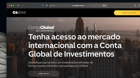 C6 Bank lança conta global de investimentos