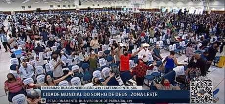 Igreja Mundial do Poder de Deus realiza culto presencial em meio à pandemia, com público superior aos 25% determinados pelo STF