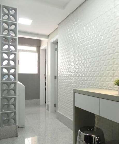 51. Lavanderia com azulejo 3D – Foto Pinterest