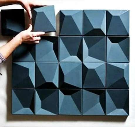 23. Azulejo 3D azul para banheiro e cozinha – Foto Plataforma Arquitectura
