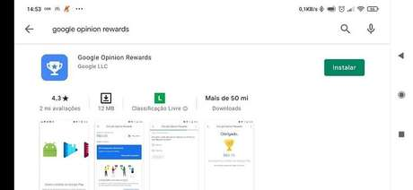 Google Opinion Rewards pode ser baixado na Play Store
