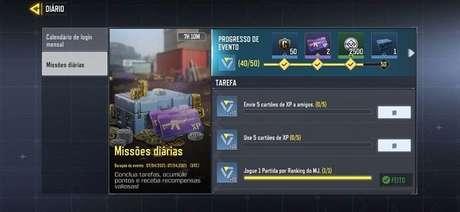 Missões diárias em Call of Duty: Mobile