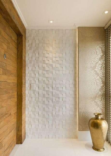 54. Revestimento azulejo 3D para entrada de casa – Foto Pinterest