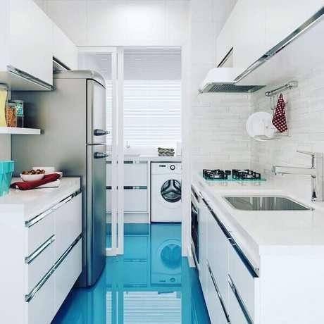 2. A durabilidade do piso colorido feito em porcelanato líquido é a mesma do piso cerâmico. Fonte: Cristal Liquid 3D