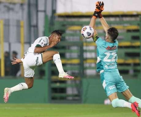 Rony abriu o placar para o Verdão com um gol de cobertura pela Recopa (Foto: Cesar Greco/Palmeiras)