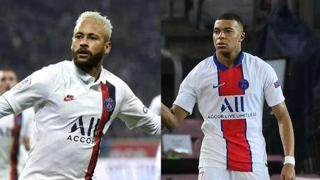 Neymar e Mbappé devem definir seus futuros nas próximas semanas (Montagem Lance! Fotos: AFP)