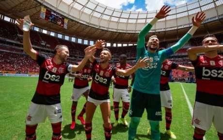 Fla festeja com a Nação em estádio lotado (Foto: Alexandre Vidal/CRF)