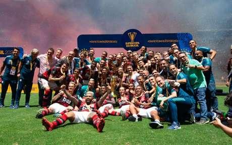 Flamengo levou a Supercopa do Brasil de 2020: vitória sobre o Athletico por 3 a 0 (Foto: Alexandre Vidal/CRF)